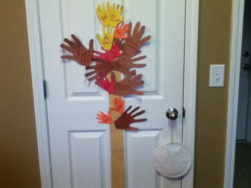 Handprint Thanksgiving Tree
