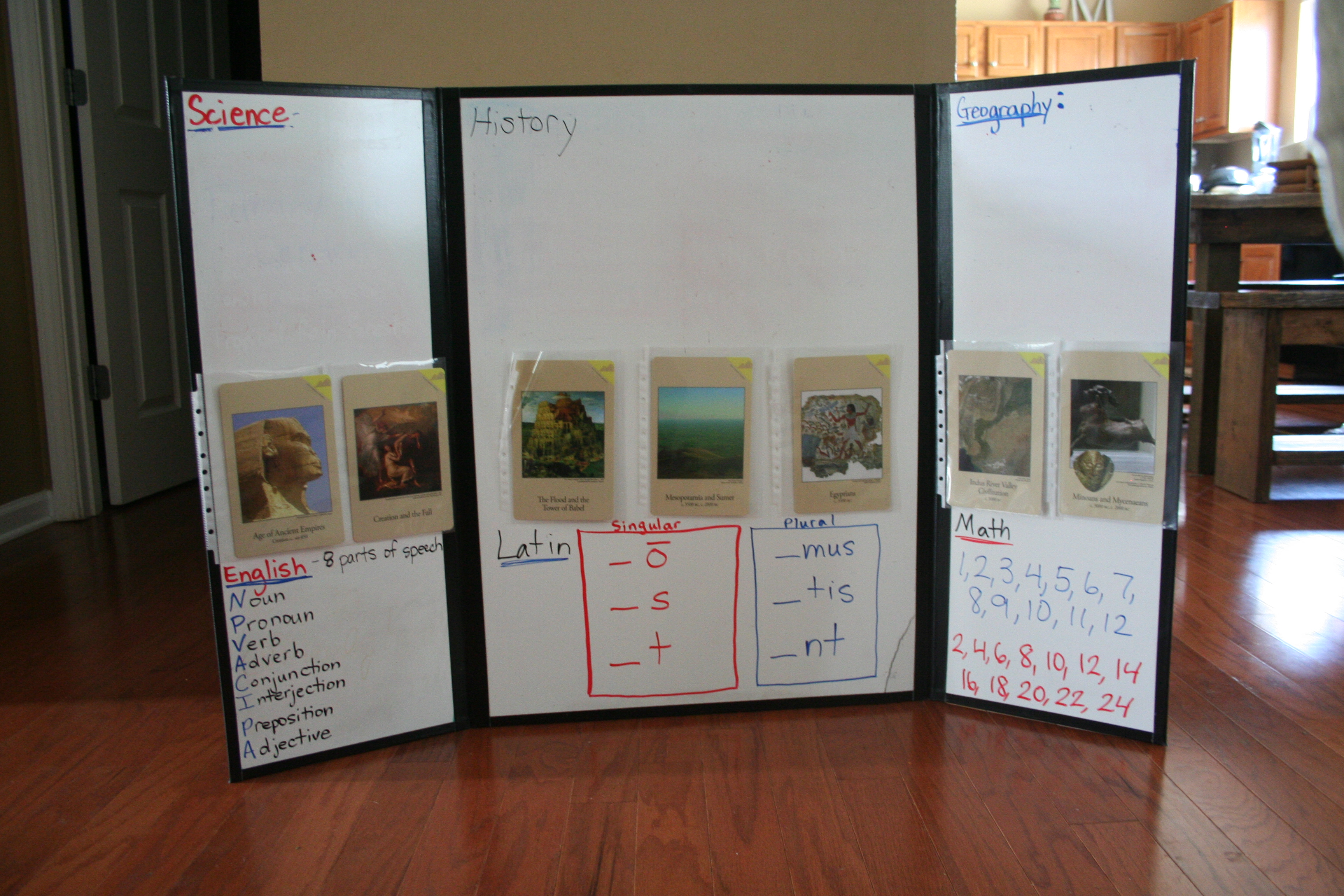 Suzanne Shares CC Tutor Resource DIY Tri Fold Dry Erase Board