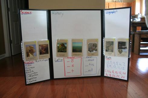 Tri-fold Dry Erase Board