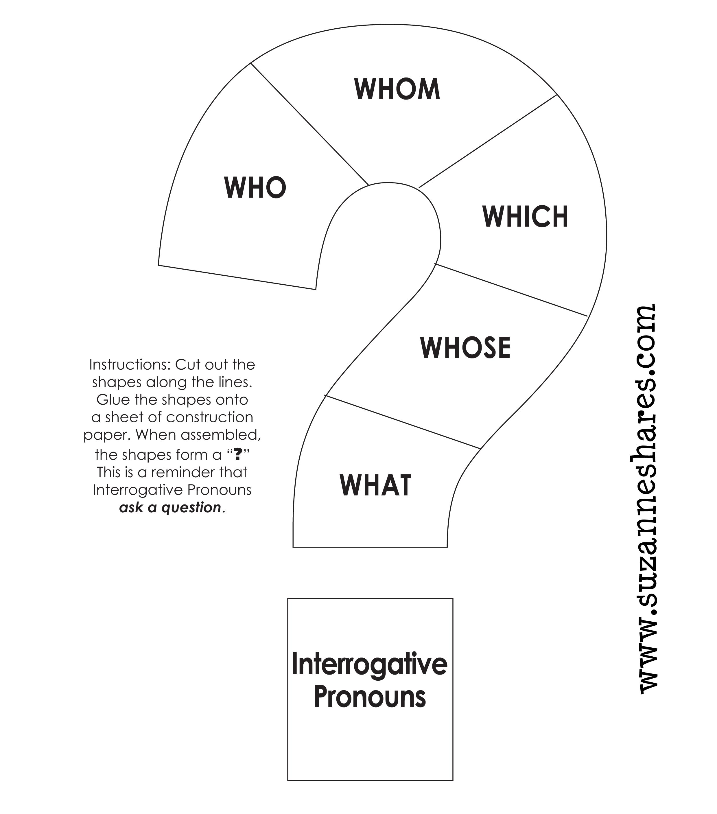 English worksheets: Prouns Chart - personal, object, possessive ...