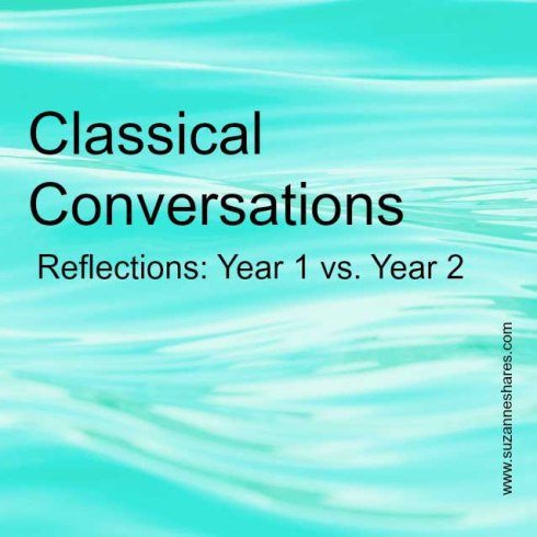 Classical Conversations.Year 1 vs. Year 2 series